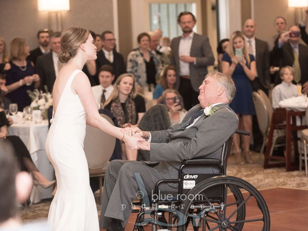 PHOTO: Mary Bourne Butts and her dad, Jim Roberts, shared a special first dance at her Dec. 29, 2018, wedding in Alabama.