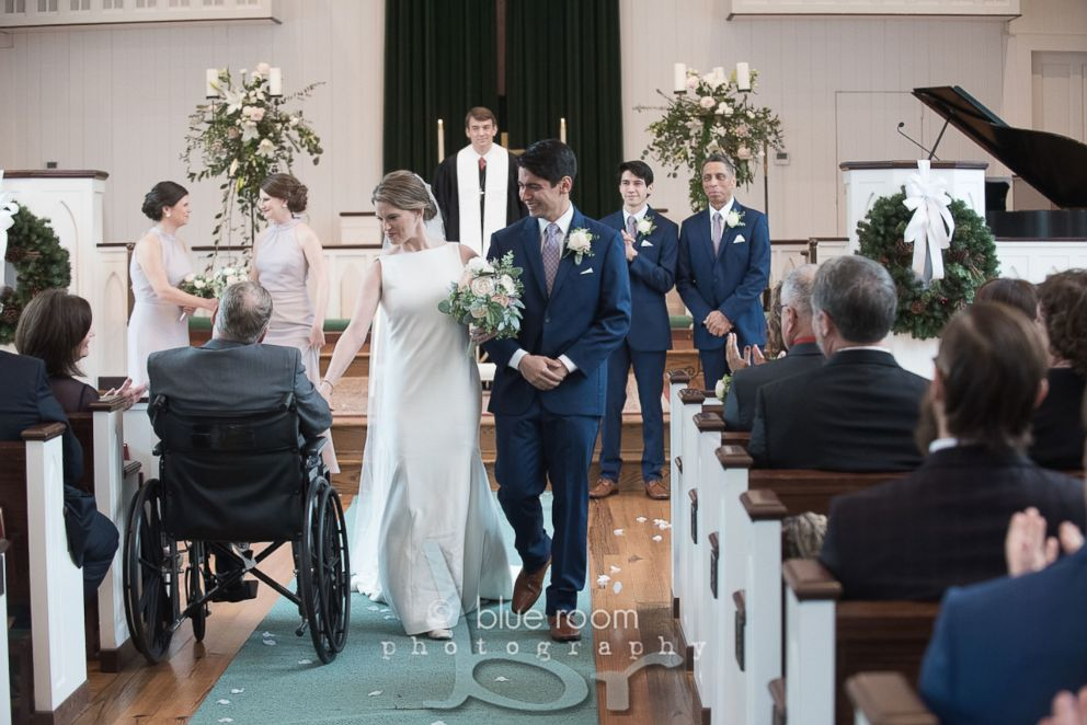 PHOTO: In 2017, Jim Roberts was diagnosed with a cancerous brain tumor and on Dec. 29, shared a special first dance with his daughter Mary Bourne Butts after she married James Butts in Alabama.