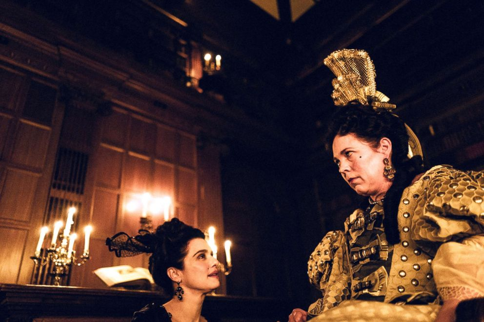 PHOTO: Rachel Weisz and Olivia Colman in a scene from The Favourite.