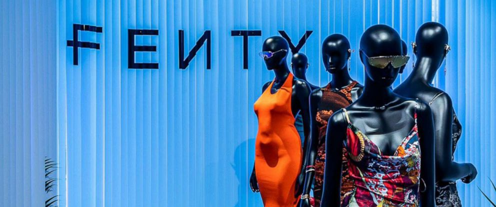 PHOTO: Fenty fashions are display on mannequins of different sizes in an image shared by the brand via Twitter on June 21, 2019.