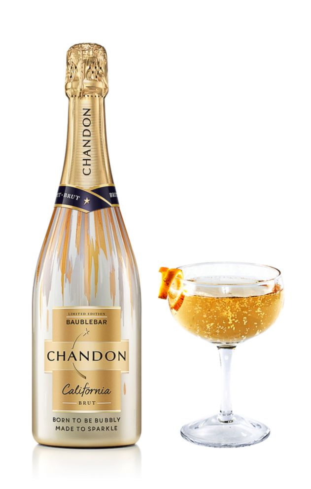 A champagne fizz cocktail by Chandon California