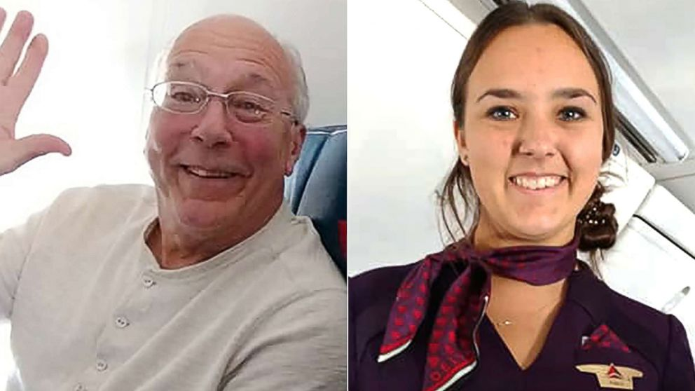Hal Vaughan, left, flew on Christmas Eve so that his flight attendant daughter wouldn't have to spend Christmas alone.