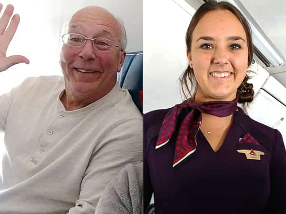 PHOTO: Hal Vaughan, left, flew on Christmas Eve so that his flight attendant daughter wouldnt have to spend Christmas alone.