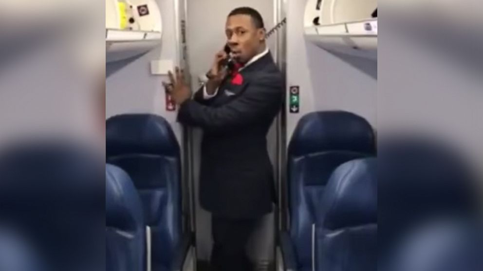 "Marcus Gindrow, a member of Endeavor Air's flight crew, recorded his ""Toxic"" dance on March 31 during a layover in Atlanta, Georgia."