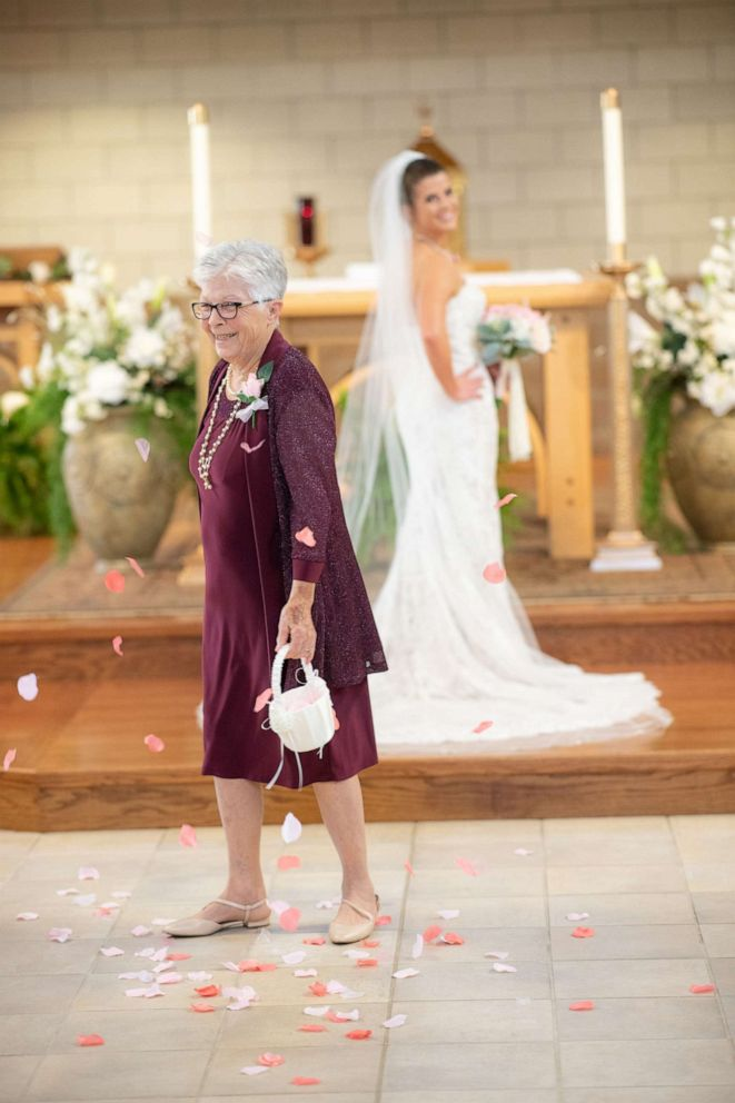 PHOTO: Brenna Kleman asked her 83-year-old grandmother to be her flower girl at her April wedding.