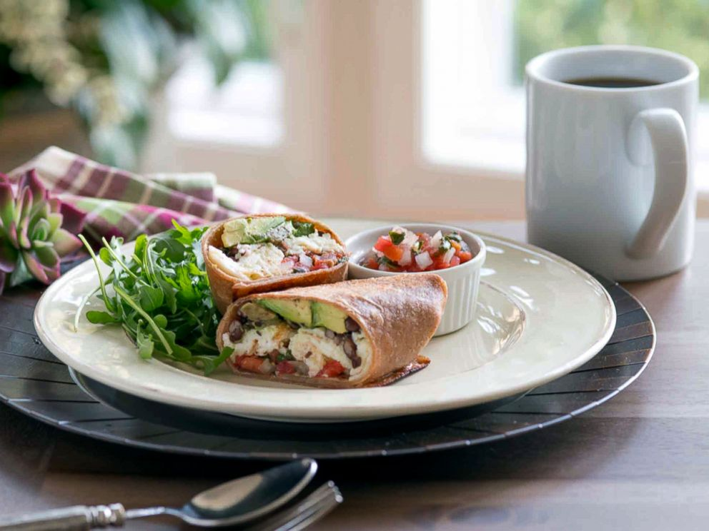 PHOTO: Food for Thought author Cristina Ferrare shares her egg white protein wrap recipe.