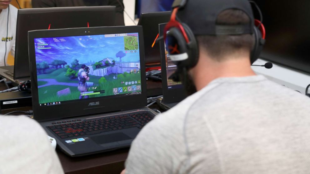 NFL player Baker Mayfield participates in the Microsoft Stores Pro Player Charity Fortnite Duos Tournament, Presented By Kor Media Entertainment at Microsoft Store, July 17, 2018, in Los Angeles.