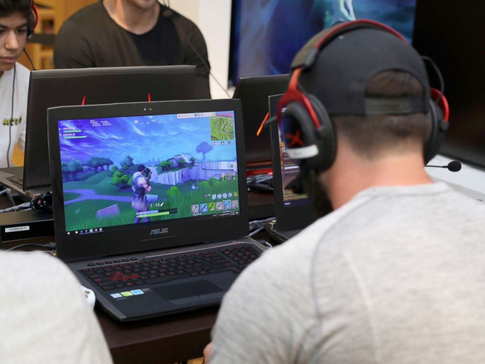 PHOTO: NFL player Baker Mayfield participates in the Microsoft Stores Pro Player Charity Fortnite Duos Tournament, Presented By Kor Media Entertainment at Microsoft Store, July 17, 2018, in Los Angeles.