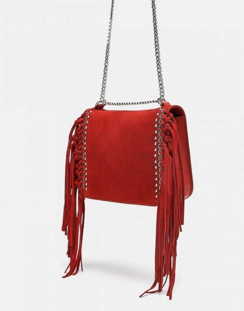 PHOTO: Split Leather Fringed Crossbody Bag