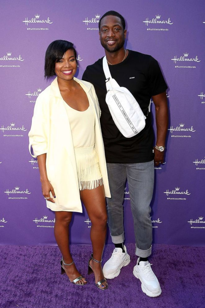"""Gabrielle Union and Dwyane Wade arrive at Hallmark's """"When You Care Enough to Put It Into Words"""" launch event, July 30, 2018, in Los Angeles."""