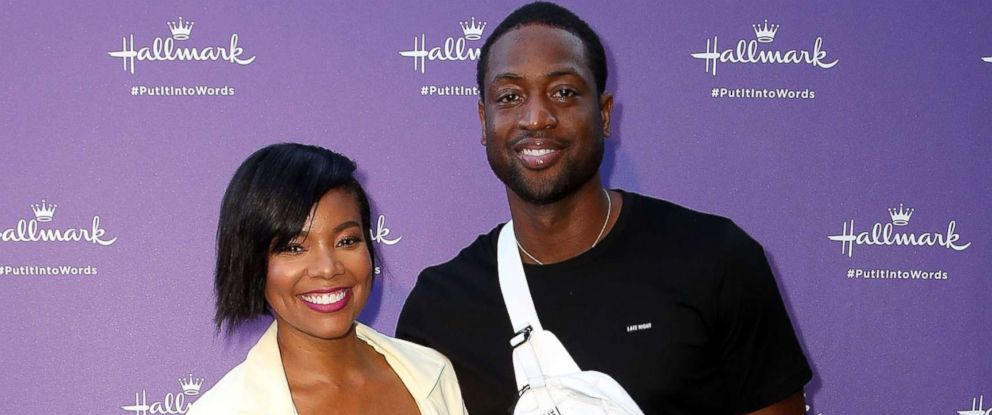 "PHOTO: Gabrielle Union and Dwyane Wade arrive at Hallmarks ""When You Care Enough to Put It Into Words"" launch event, July 30, 2018, in Los Angeles."