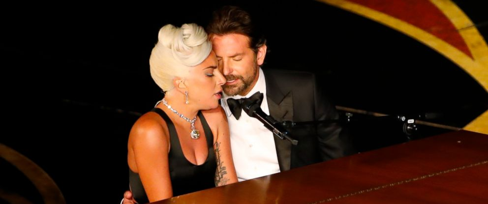 "PHOTO: Lady Gaga and Bradley Cooper perform ""Shallow"" from ""A Star Is Born"" at the 91st Academy Awards in Los Angeles, Feb. 24, 2019."