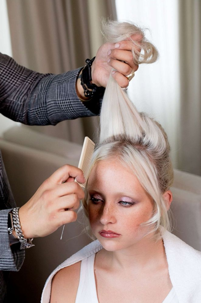 PHOTO: We recreated Lady Gagas Oscars look with Frederic Aspiras who has been Lady Gagas hairstylist for over a decade.
