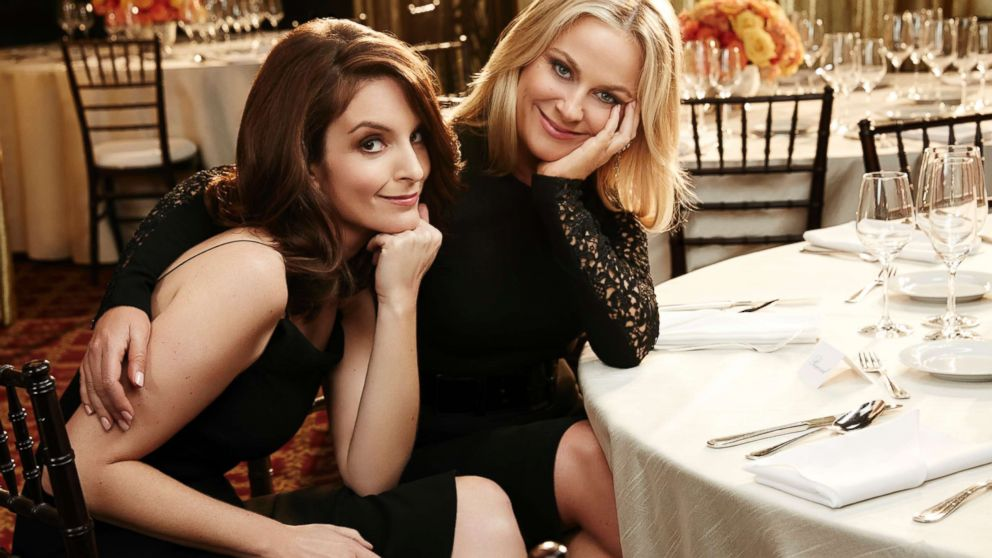 Tina Fey and Amy Poehler host the 72nd Annual Golden Globe Awards, Jan. 11, 2015.