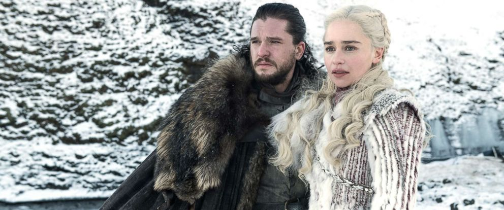 """PHOTO: Kit Harington and Emilia Clarke appear on """"Game of Thrones."""""""