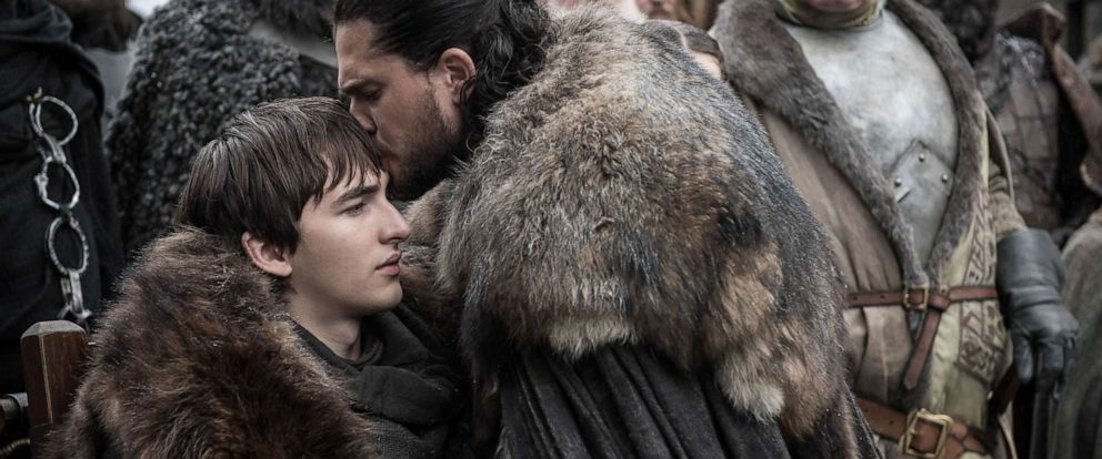 "PHOTO: Isaac Hempstead Wright and Kit Harington appear in Season 8 of HBOs, ""Game of Thrones."""
