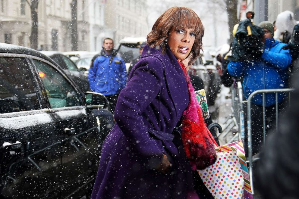 Gayle King arrives at the baby shower for Meghan, Duchess of Sussex, in New York, Feb. 20, 2019.