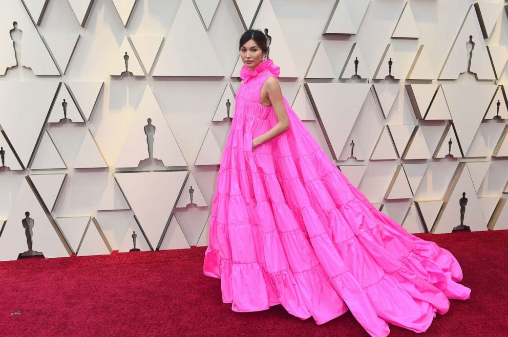 PHOTO: Gemma Chan arrives at the Oscars on Sunday, Feb. 24, 2019, at the Dolby Theatre in Los Angeles.