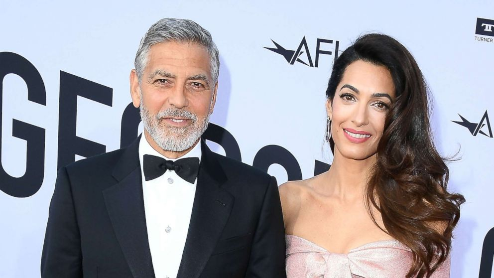 George Clooney and Amal Clooney arrive at the American Film Institute's 46th Life Achievement Award Gala Tribute To George Clooney, June 7, 2018, in Hollywood, Calif.