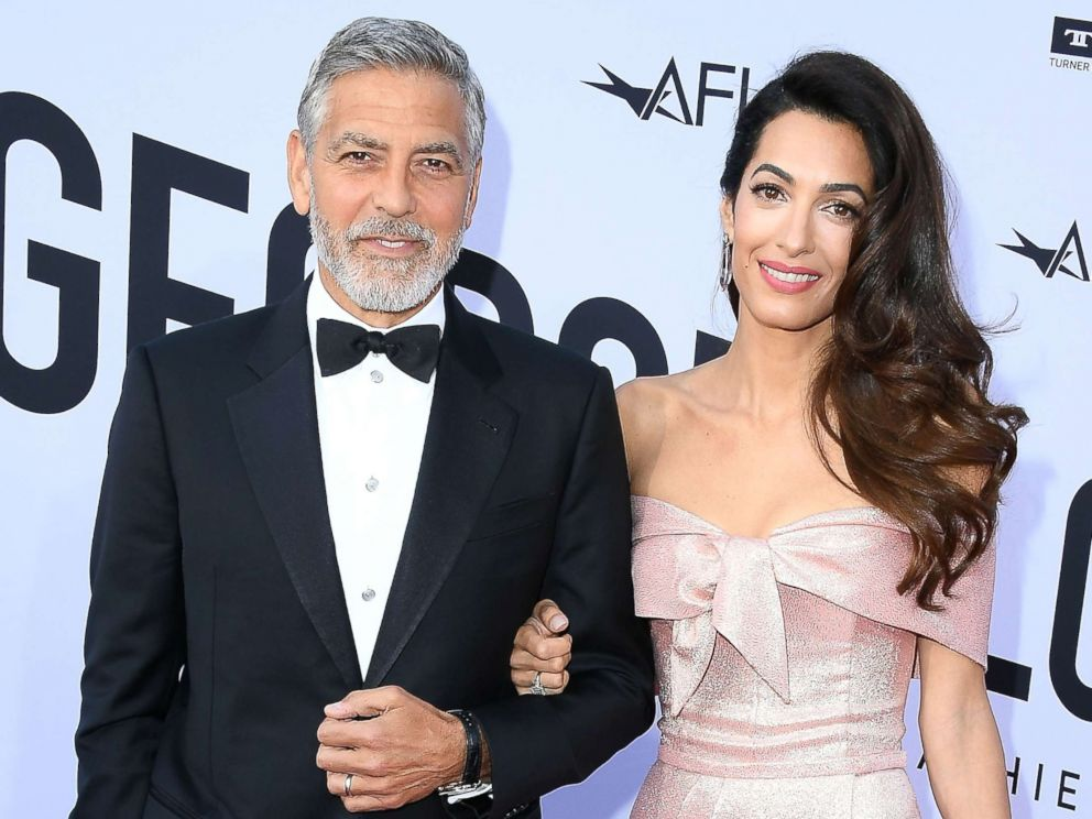 PHOTO: George Clooney and Amal Clooney arrive at the American Film Institutes 46th Life Achievement Award Gala Tribute To George Clooney, June 7, 2018, in Hollywood, Calif.