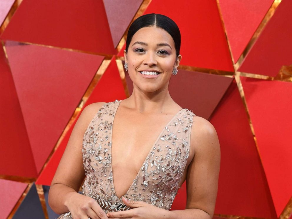 PHOTO: Gina Rodriguez arrives for the 90th Annual Academy Awards on March 4, 2018, in Hollywood, Calif.