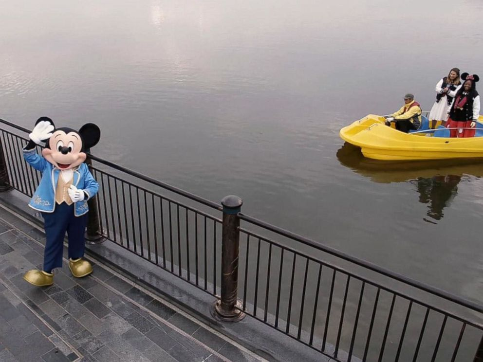 PHOTO: ABC News Ginger Zee and Disney super fan Patrice Jenkins visit Shanghai Disneyland.
