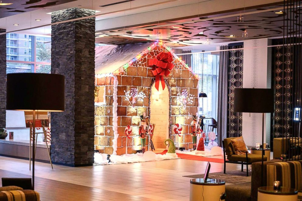 The gingerbread house at Westin Austin's Stella San Jac restaurant is made of 900 pounds of flour.
