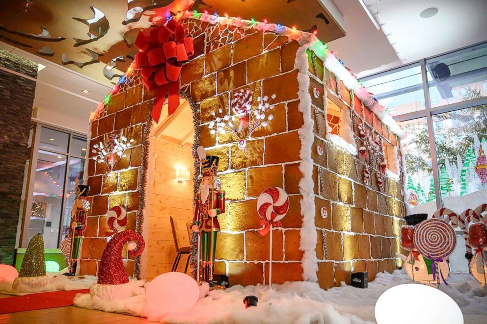 PHOTO: The team at Westin Austins Stella San Jac restaurant began building the gingerbread house in October.
