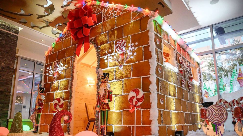 The team at Westin Austin's Stella San Jac restaurant began building the gingerbread house in October.