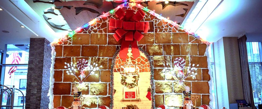 PHOTO: A life-size gingerbread house is on display at Westin Austins Stella San Jac restaurant.