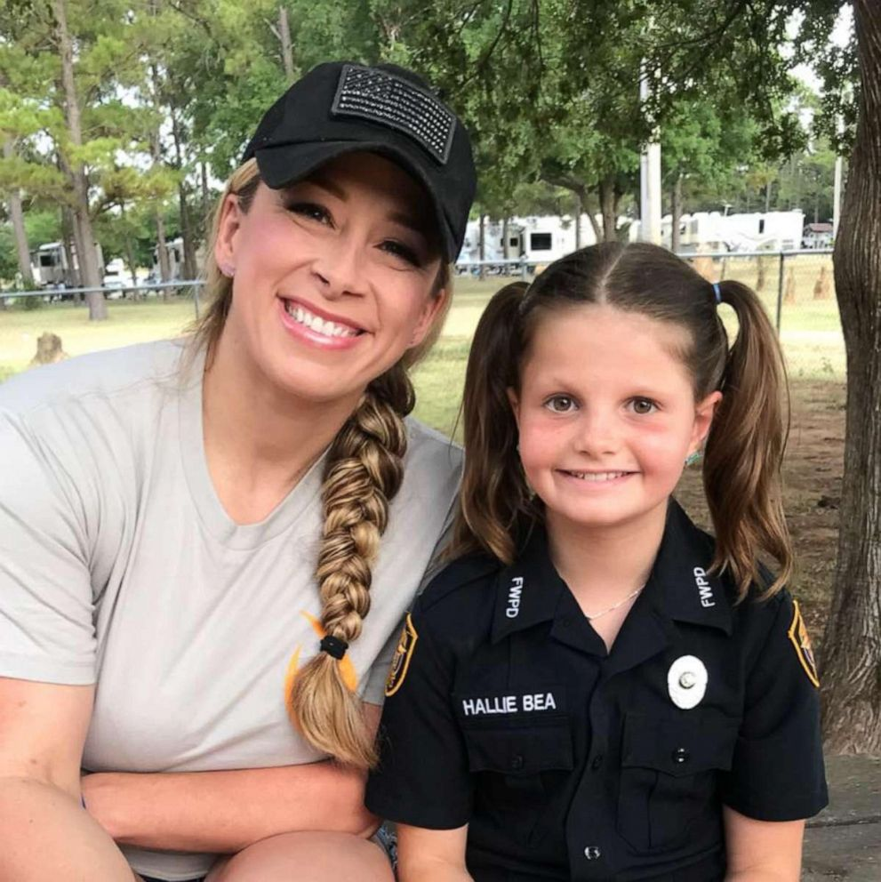 PHOTO: Hallie Bea Barnard, 11, seen with her friend, Fort Worth Police Officer Brandi Kamper, was born with Diamond-Blackfan anemia (DBA).