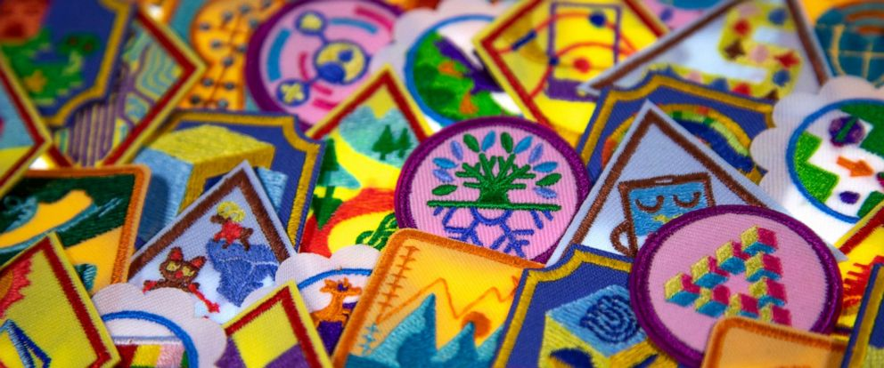 PHOTO: New Girl Scouts badges.