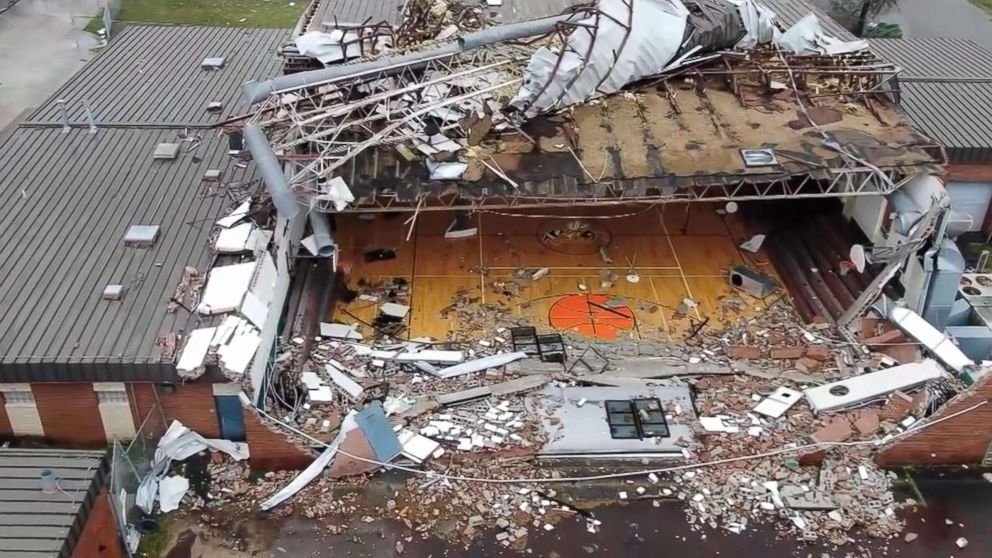 The storm virtually wiped out the coastal community of Panama City, leaving thousands homeless and nearly destroying local schools - many of which were only able to re-open last week, a full month after the storm.