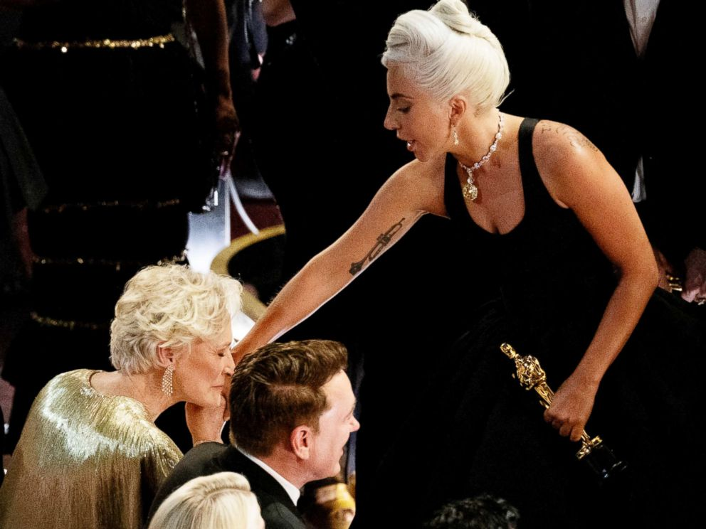 PHOTO: Glenn Close and Lady Gaga at the 91st Annual Academy Awards at Hollywood and Highland, Feb. 24, 2019, in Hollywood, Calif.