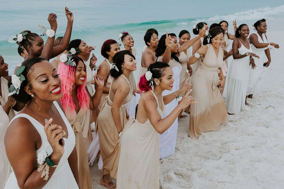 Casme Carter's wedding to her husband, Gary, took place in Destin, Florida.