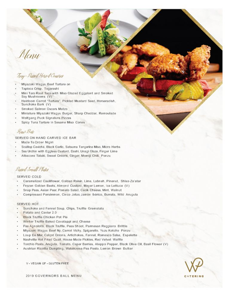 Oscars 2019 First Look At Wolfgang Puck S Menu For The