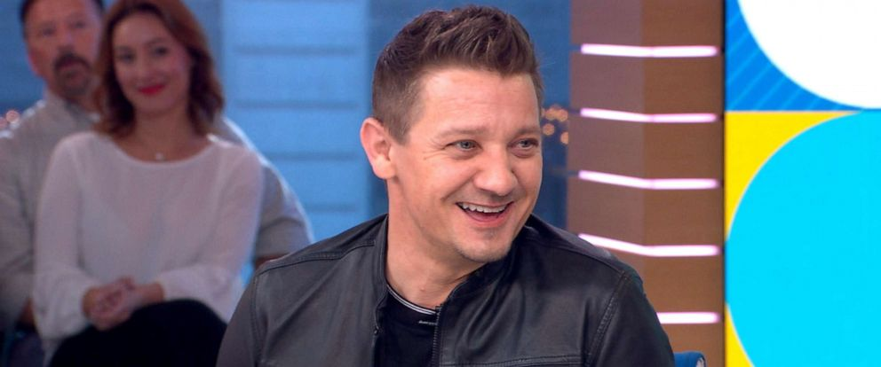 """PHOTO: Jeremy Renner appears on """"Good Morning America,"""" April, 24, 2019."""