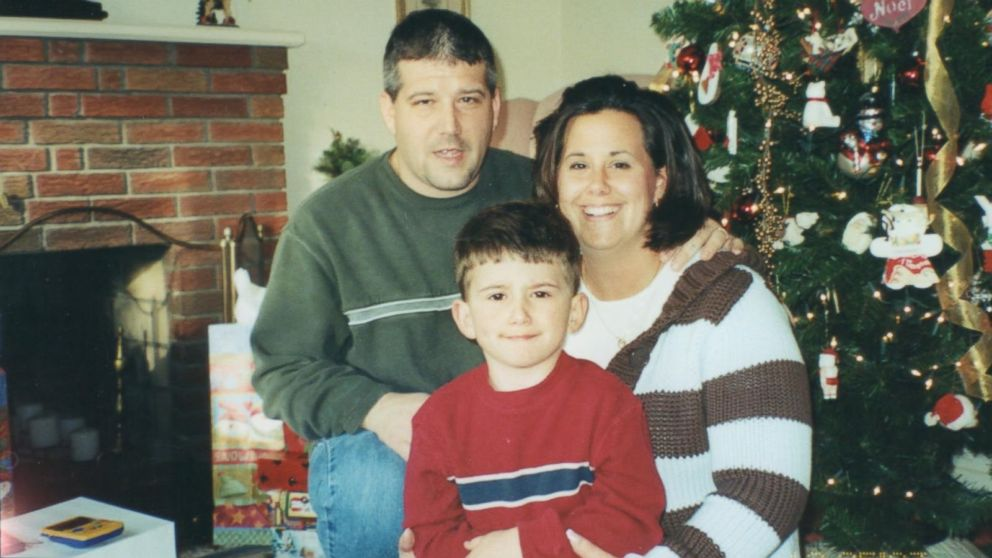 PHOTO: Marisa Cloutier-Bristol is pictured with her late husband, John Cloutier, and their son.