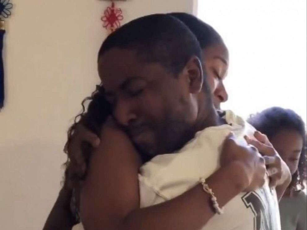 PHOTO: Marvin Bowers hugs his stepdaughter, Jazelle, on Fathers Day, June 16, 2019.