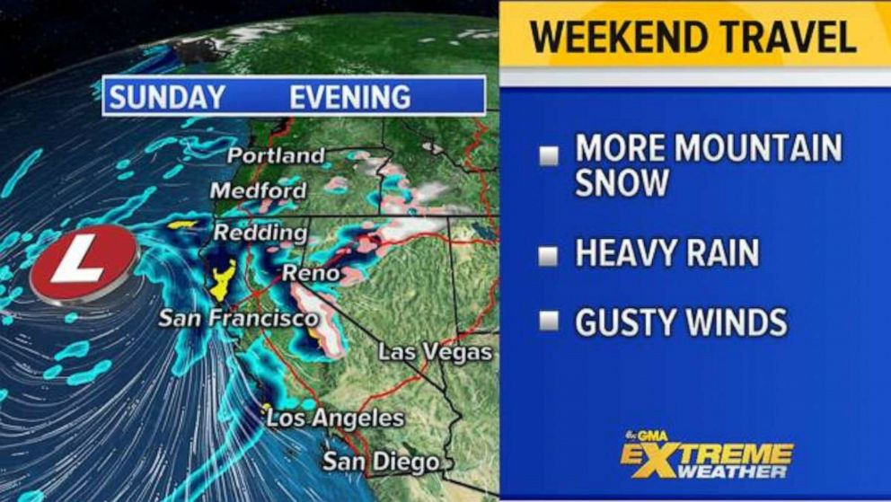 PHOTO: The West Coast will likely see more severe weather this weekend that could impact holiday travel.