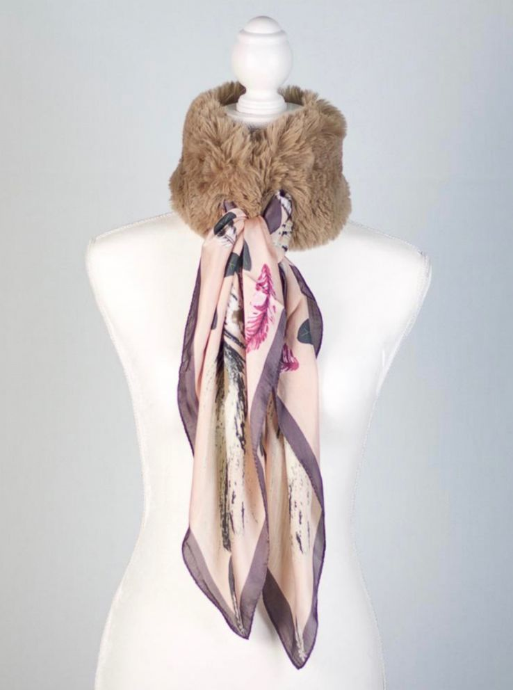 PHOTO: A JamieRocks & Co faux fur neckerchief with scarf is pictured here.