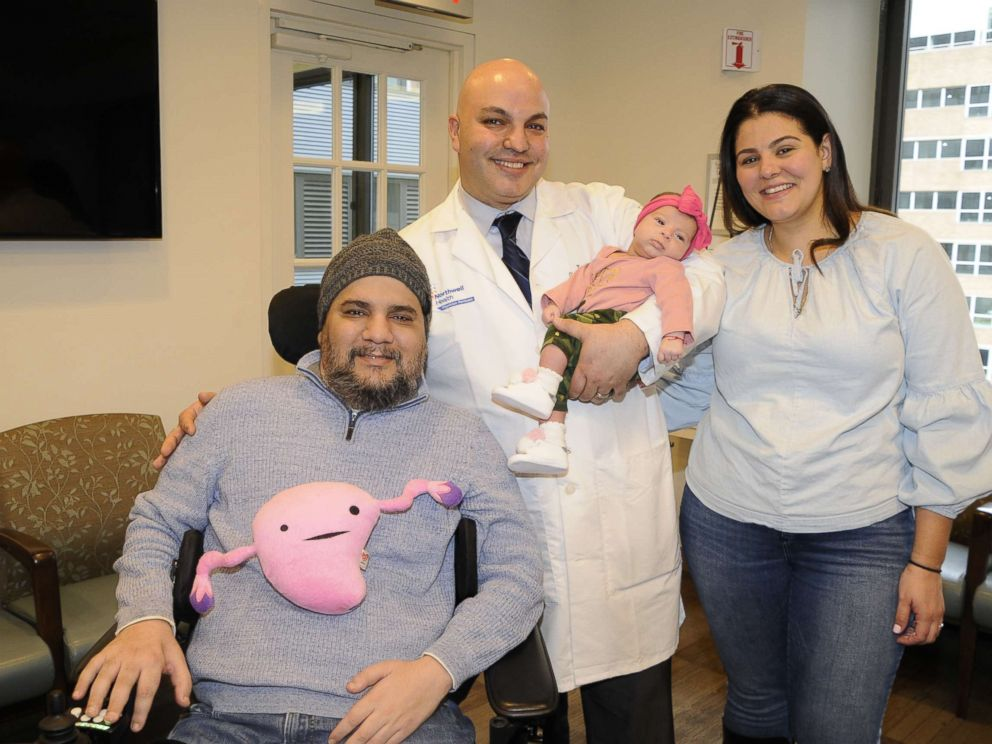 PHOTO: Visnu Gonzalez and Sahily Machado pose with their daughter. Lia, and Dr. Tomer Singer of Lenox Hill Hospital in New York City.