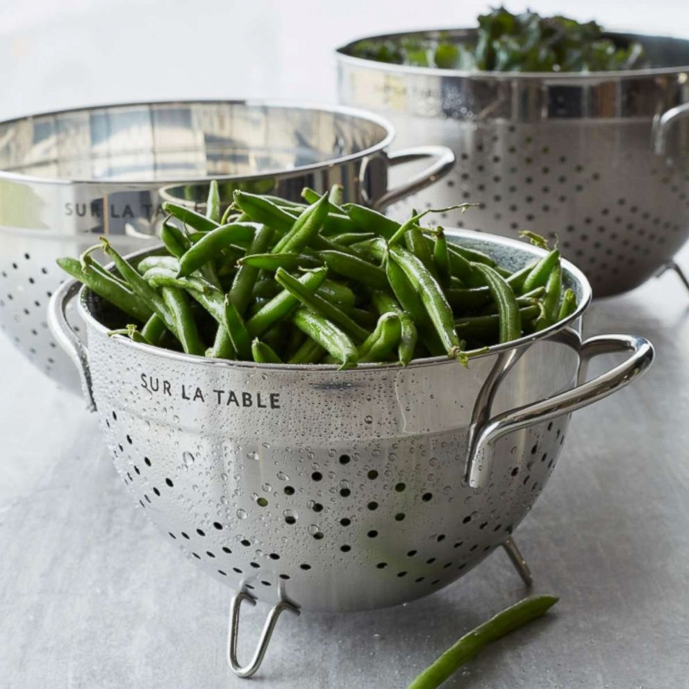 PHOTO: Sur La Table stainless steel colander.