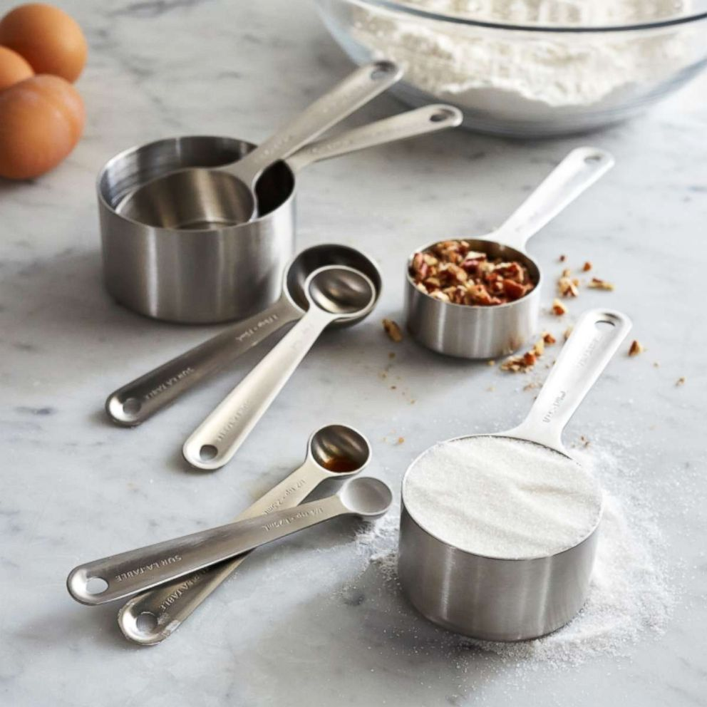 PHOTO: Sur La Table stainless steel measuring cups & spoons, set of 8.