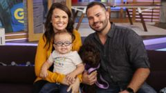 """PHOTO: Roman Dinkel, 2, appears on """"GMA Day"""" with his parents, Whitney and Adam Dinkel on Sept. 21, 2018."""