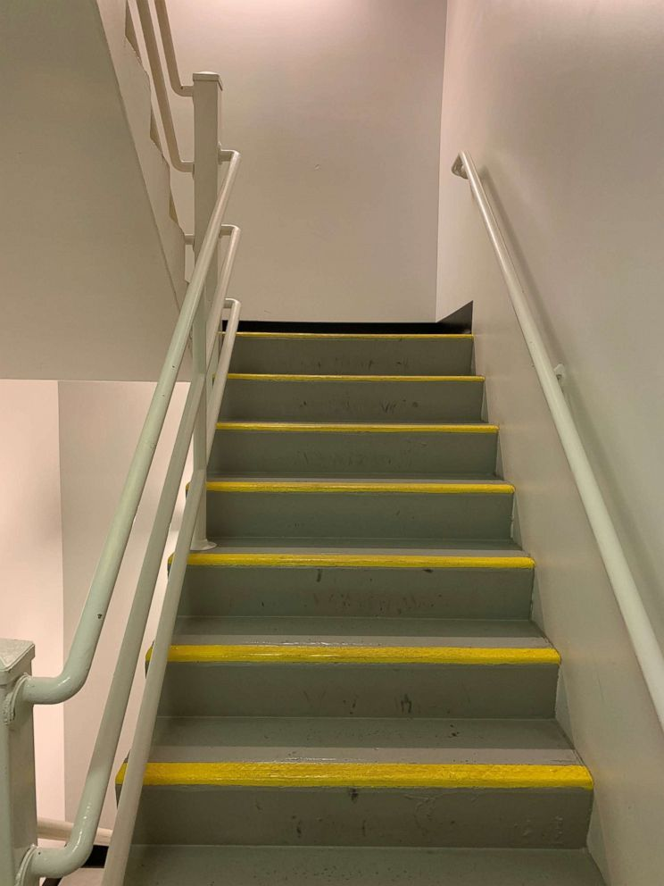 PHOTO: Climbing three flights of stairs three times a day made an impact.