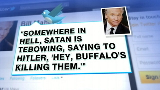 VIDEO: Bill Maher takes to Twitter with controversial remarks about Tim Tebow.