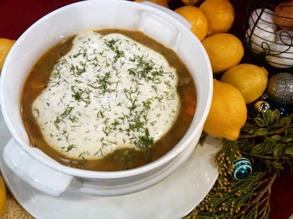 PHOTO George Stephanopoulos: Whole Chicken Soup with Avgolemono and Orzo
