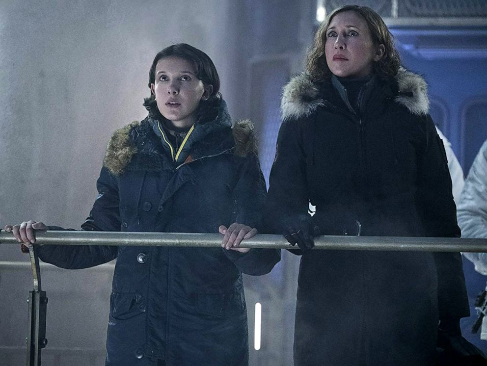 PHOTO: Millie Bobby Brown, as Madison Russell, and Vera Farmiga, as Dr. Emma Russell, in a scene from Godzilla: King of the Monsters.