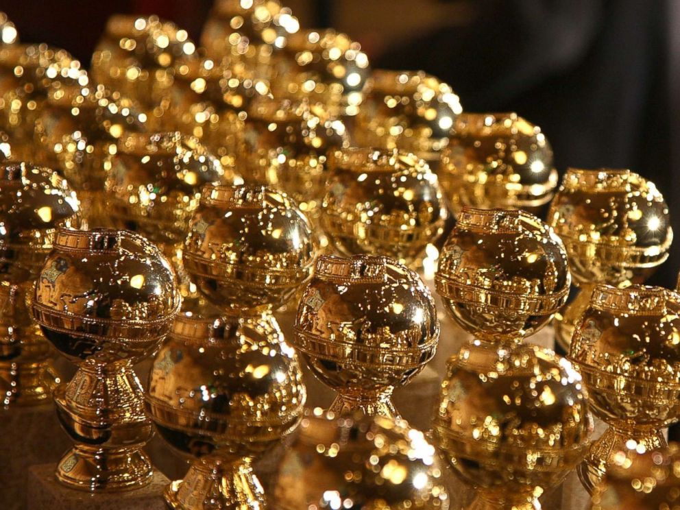 PHOTO: Golden Globe statuettes are on display during an unveiling by the Hollywood Foreign Press Association at the Beverly Hilton Hotel, Jan. 6, 2009 in Beverly Hills, Calif.